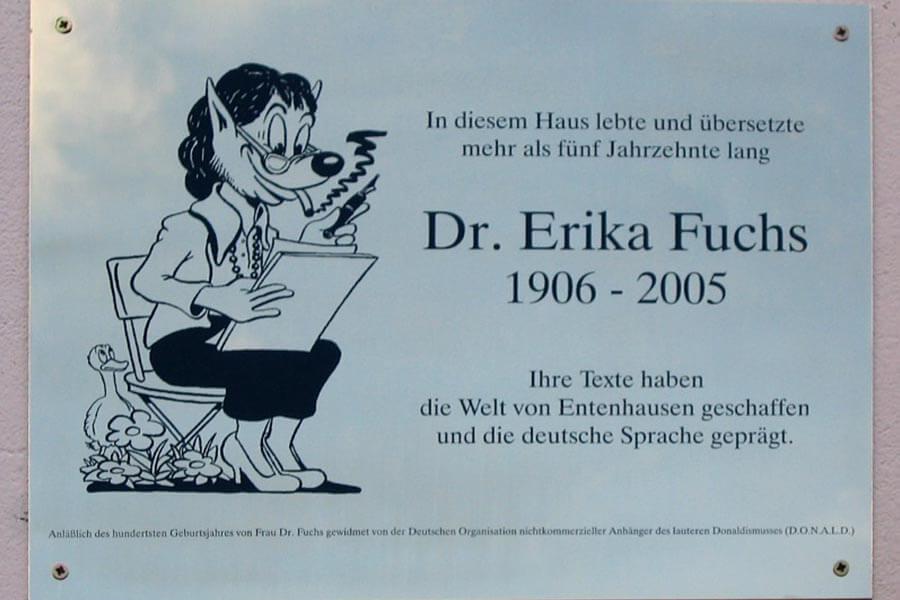 Kocarek Gmbh Fachuebersetzungen Museum für Micky-Maus-Übersetzerin Dr. Erika Fuchs