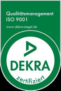 Kocarek GmbH Dekra 9001 Zertifikat