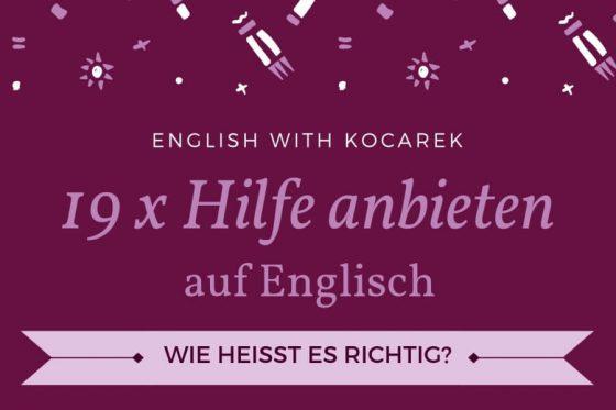 Kocarek GmbH | Fachübersetzungen Essen | Hilfe anbieten auf Englisch